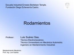 PPT Rodamientos - Mecánica Industrial