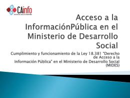 Acceso a la Información Pública en el Ministerio de Desarrollo Social