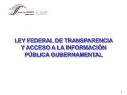 ley federal de transparencia y acceso a la información pública