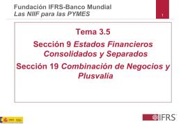 Tema 3.5 Sección 9 Estados Financieros Consolidados y