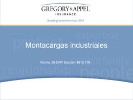 Norma 29 CFR Sección 1910.178