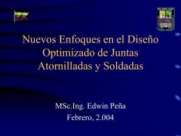 DISEÑO AVANZADO DE JUNTAS ATORNILLADAS Y SOLDADAS