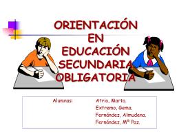 orientación en secundaria - CEP de Alcalá de Guadaíra