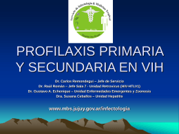 PROFILAXIS PRIMARIA Y SECUNDARIA