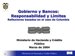 La recuperación de la Crisis financiera en Colombia: El papel del