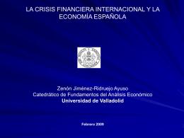 Diagnóstico Crisis - Universidad de Valladolid