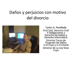 Daños y perjuicios con motivo del divorcio