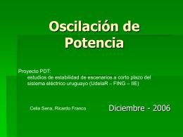 Oscilación de Potencia (presentación PDT 21-12