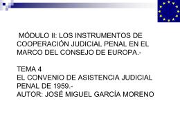 auxilio judicial. principios generales del reglamento