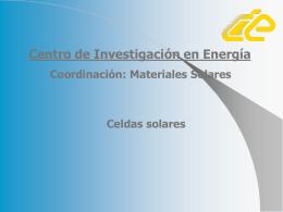 poster celda solar - Proyecto de Energía Renovable
