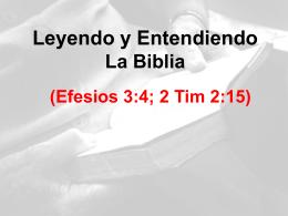 Leyendo y Entendiendo La Biblia - Predicando el Evangelio (Rom. 1