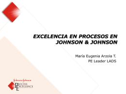 Excelencia en Procesos en Johnson & Johnson