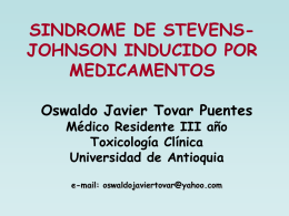 sindrome de stevens-johnson inducido por - E