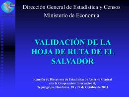 Validación de la Hoja de Ruta de El Salvador