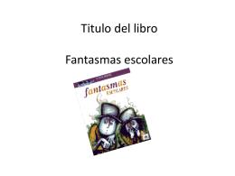 Titulo del libro Fantasmas escolares