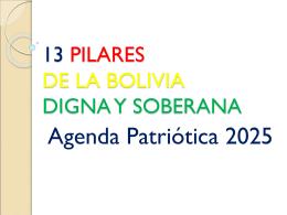 13 Pilares de la Bolivia Digan y Soberana