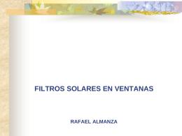 Filtros Solares - Instituto de Ingeniería, UNAM