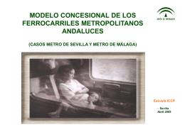 METRO DE SEVILLA. - Agencia de Obra Pública de la Junta de