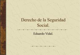 Derecho de la Seguridad Social.