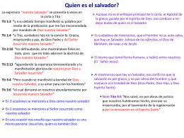 Quien es el Salvador?