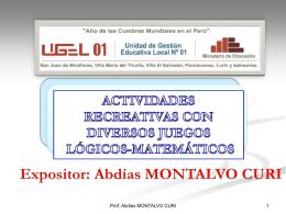 actividades recreativas ugel01