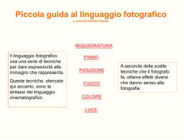 Il linguaggio fotografico