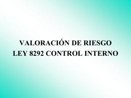 VALORACIÓN DEL RIESGO