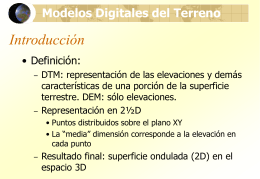 Modelos digitales de terreno