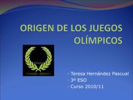 ORIGEN DE LOS JUEGOS OLÍMPICOS