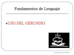 verbo auxiliar + gerundio