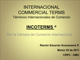 Incoterms 2010 - Universidad Sergio Arboleda