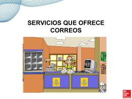 Presentación sobre los servicios de correos