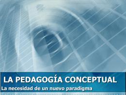 Postulados Pedagogía Conceptual