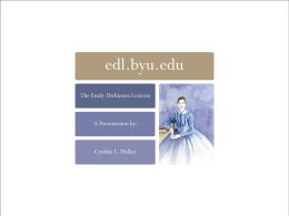 EDLwebsiteBYU - Emily Dickinson Lexicon