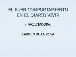 EL BUEN COMPORTAMIENTO EN EL DIARIO VIVIR