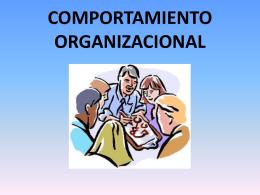 comportamiento organizacional - Facultad de Ciencias Económicas