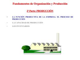 Fundamentos de Organización y Producción 2ª Parte