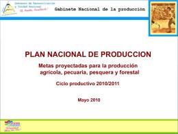Plan Nacional de Producción 2010/2011