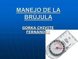 MANEJO DE LA BRÚJULA
