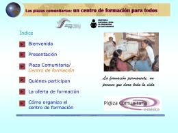 Las plazas comunitarias: un centro de formación para todos