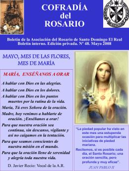 Boletín de la Asociación del Rosario de Santo Domingo El Real