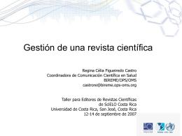 Gestión de revistas científicas - Portal de revistas académicas de la