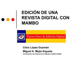 EDICIÓN DE UNA REVISTA DIGITAL CON MAMBO