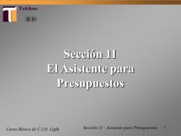 Tutorial CIO Light - El Asistente para Presupuestos