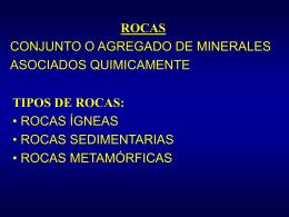 rocas sedimentarias - Universidad de Chile