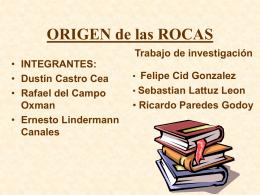 ORIGEN delas ROCAS
