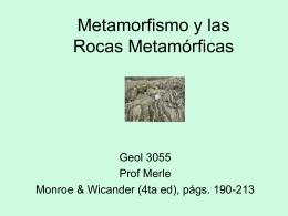 Metamorfismo y las Rocas Metamorficas