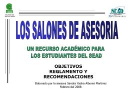 cOMO APROVECHAR LOS SALONES DE ASESORIA