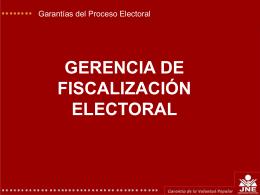 Las Garantías del Proceso Electoral