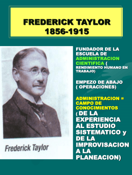 FREDERICK TAYLOR